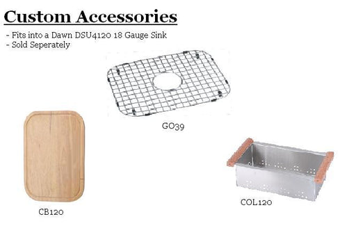 Dawn CB120 Cutting Board for DSU4120-Kitchen Accessories Fast Shipping at DirectSinks.