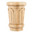 "Hardware Resources 5-7/8"" x 4-7/16"" x 2-3/16"" Hard Maple Reed Traditional Capital-DirectSinks"