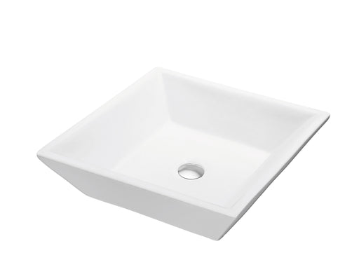CASN105014 Ceramic Square Vessel Bathroom Sink