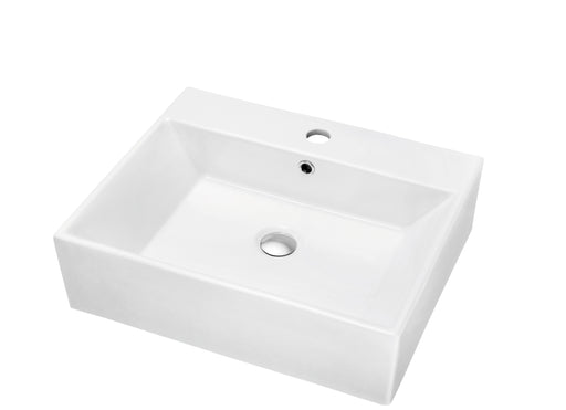 Dawn Vessel Above-Counter Rectangle Ceramic Basin with Single Hole for Faucet-Bathroom Sinks Fast Shipping at DirectSinks.