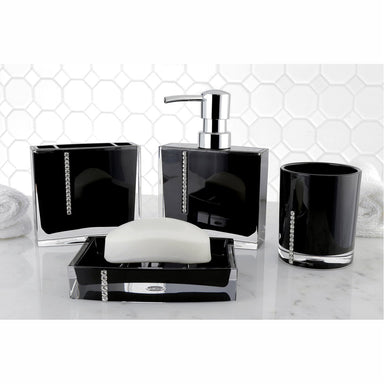 Kingston Brass Krystal Bathware Reef 4-Piece Bath Accessory Set-Bathroom Accessories-Free Shipping-Directsinks.