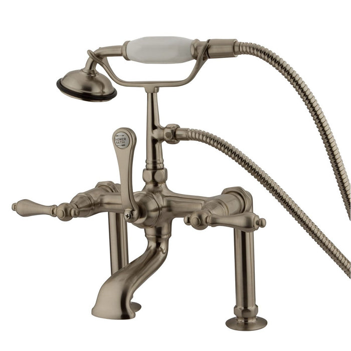 "Kingston Brass Vintage 7"" Classic Deck Mount Clawfoot Tub Filler Faucet with Hand Shower-Tub Faucets-Free Shipping-Directsinks."