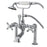 "Kingston Brass Vintage 7"" Clawfoot Deck Mount Tub Filler Faucet with Hand Shower-Tub Faucets-Free Shipping-Directsinks."