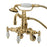 "Kingston Brass Vintage 3-3/8"" - 9"" Adjustable Center Brass Wall Mount Clawfoot Tub Filler with Hand Shower-Tub Faucets-Free Shipping-Directsinks."
