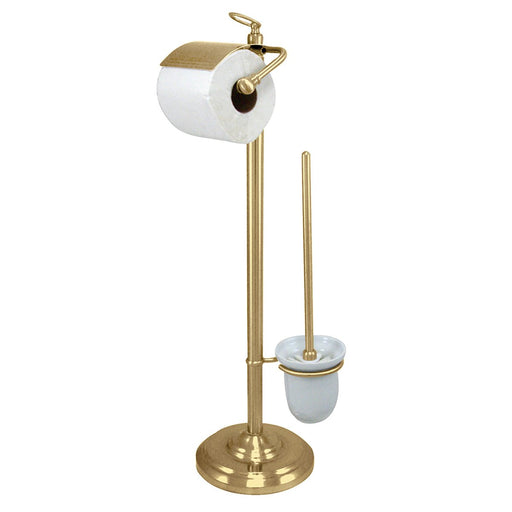 Kingston Brass Vintage Pedestal Toilet Paper and Brush Holder in Polished Brass-Bathroom Accessories-Free Shipping-Directsinks.