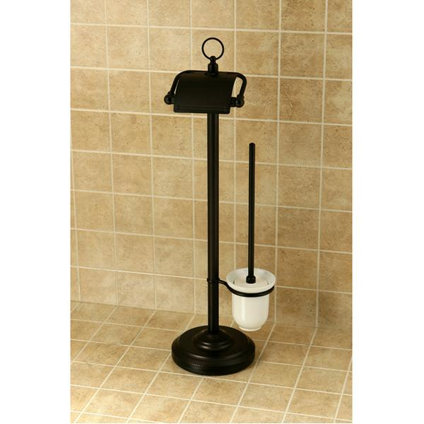 Kingston Brass Vintage Pedestal Toilet Paper and Brush Holder-Bathroom Accessories-Free Shipping-Directsinks.