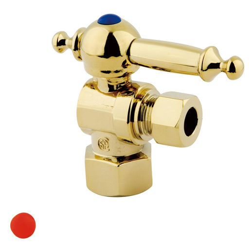 "Kingston Brass Vintage Lever Handle Angle Stop with 1/2"" IPS x 3/8"" OD Compression-Bathroom Accessories-Free Shipping-Directsinks."