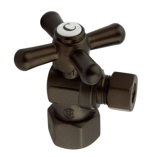"Kingston Brass Vintage Cross Handle Angle Stop with 1/2"" IPS x 3/8"" OD Compression-Bathroom Accessories-Free Shipping-Directsinks."