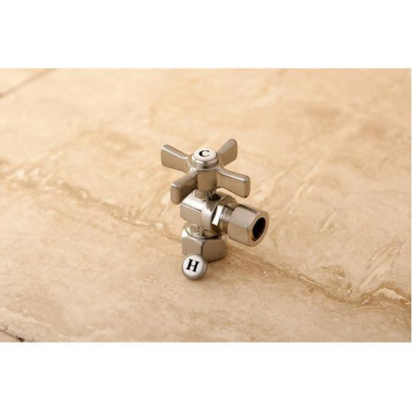 "Kingston Brass Millennium 1/2"" FIP x 1/2"" OD Compression Angle Valve-Bathroom Accessories-Free Shipping-Directsinks."