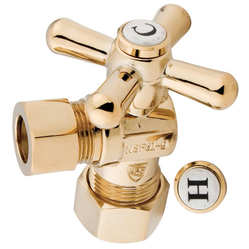 "Kingston Brass Vintage Angle Stop with 5/8"" OD Compression x 1/2"" OD Compression-Bathroom Accessories-Free Shipping-Directsinks."