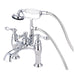 Kingston Brass CC604T1 Vintage Deck Mount Clawfoot Tub Filler with Hand Shower-Tub Faucets-Free Shipping-Directsinks.