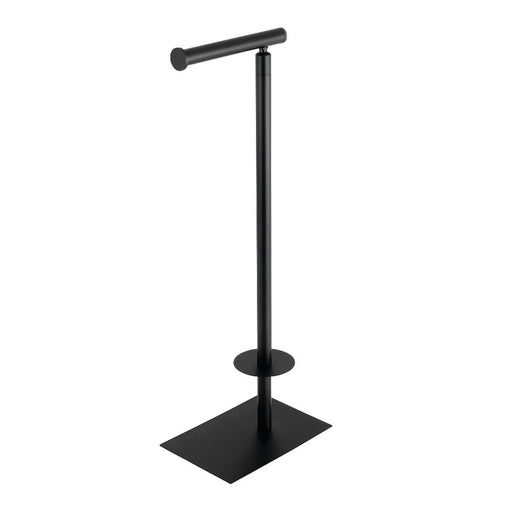 Kingston Brass Claremont Freestanding Toilet Paper Stand in Matte Black