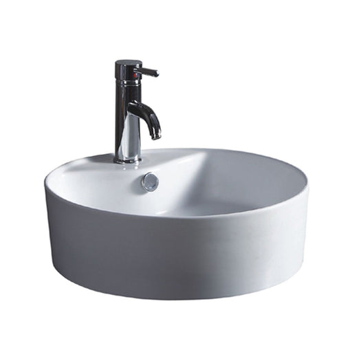 Wells Sinkware 18-Inch Round Vitreous Ceramic Vessel Bathroom Sink in White-Bathroom Sinks Fast Shipping at Directsinks.