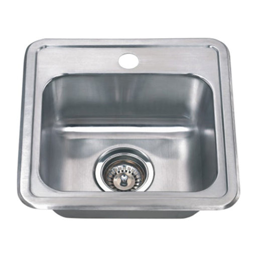 Wells Sinkware 15-Inch 22-Gauge Drop-in Single Bowl Stainless Steel Bar Sink-Bar & Prep Sinks Fast Shipping at Directsinks.