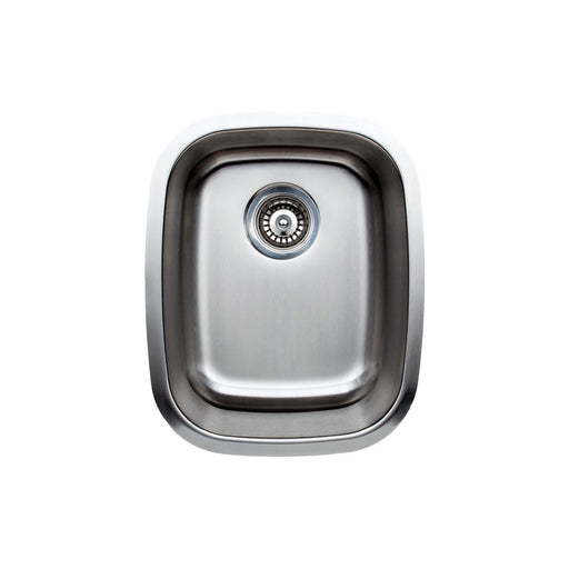 Wells Sinkware 15-Inch 18-Gauge Single Bowl Undermount Stainless Steel Bar Sink-Bar & Prep Sinks Fast Shipping at Directsinks.
