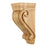 "Hardware Resources 5"" x 6-3/4"" x 14"" Rubberwood Scrolled Corbel-DirectSinks"