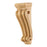 "Hardware Resources 2-1/4"" x 1-1/2"" x 6"" Alder Low Profile Scrolled Corbel-DirectSinks"