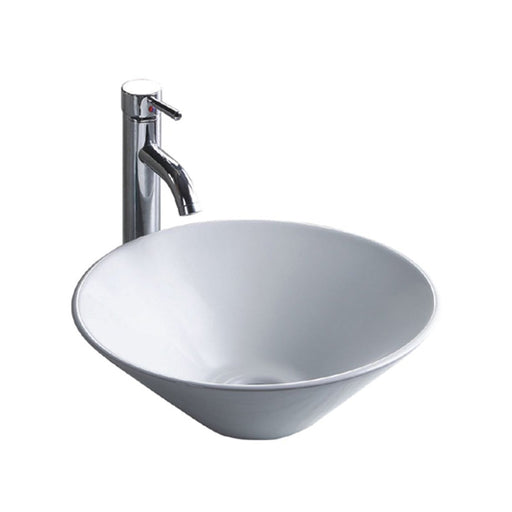 Wells Sinkware 16-Inch Round Vitreous Ceramic Vessel Bathroom Sink in White-Bathroom Sinks Fast Shipping at Directsinks.