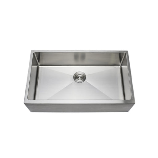 Wells Sinkware Handcrafted 33-Inch 16-Gauge Apron Front Farmhouse Single Bowl Stainless Steel Kitchen Sink-Kitchen Sinks Fast Shipping at Directsinks.