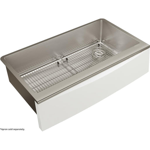 "Elkay Crosstown Stainless Steel 35-7/8"" x 20-5/16"" x 9"" Single Bowl Farmhouse Sink Kit for Interchangeable Apron"