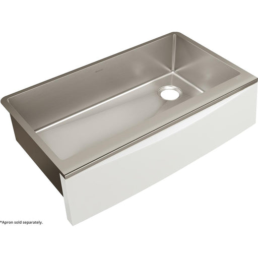 "Elkay Crosstown Stainless Steel 35-7/8"" x 20-5/16"" x 9"" Single Bowl Farmhouse Sink for Interchangeable Apron"