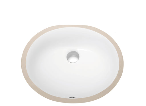 Dawn Under Counter Oval Ceramic Basin with Overflow-Bathroom Sinks Fast Shipping at DirectSinks.