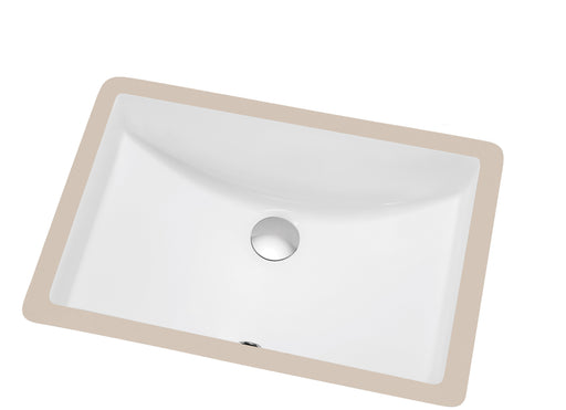 Dawn Under Counter Rectangle Ceramic Basin with Overflow-Bathroom Sinks-DirectSinks