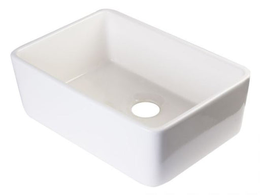 "ALFI brand AB503 23"" Smooth Apron Fireclay Single Bowl Farmhouse Kitchen Sink-DirectSinks"