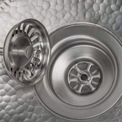 "Premier Copper Products 3.5"" Kitchen, Prep, Bar Basket Strainer Drain - Brushed Nickel-DirectSinks"