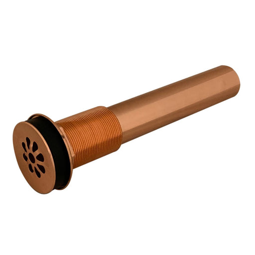 "Premier Copper Products 1.5"" Non-Overflow Grid Bathroom Sink Drain in Polished Copper"