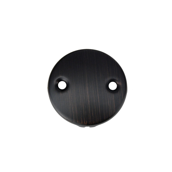 Premier Copper Products Tub Drain Trim and Two-Hole Overflow Cover for Bath Tubs - Oil Rubbed Bronze-DirectSinks