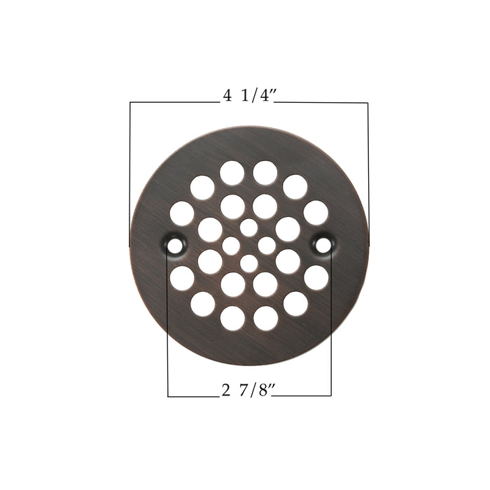 "Premier Copper Products 4.25"" Round Shower Drain Cover in Oil Rubbed Bronze-DirectSinks"