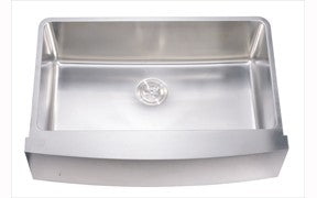 "33"" Curved Apron Single Bowl 16 Gauge Stainless Steel Kitchen Sink-Kitchen Sinks Fast Shipping at DirectSinks."