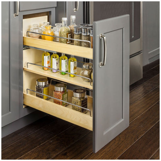 "Hardware Resources ""No Wiggle"" Under Drawer Base Cabinet Pullout Built on Premium Soft-close Slides-DirectSinks"