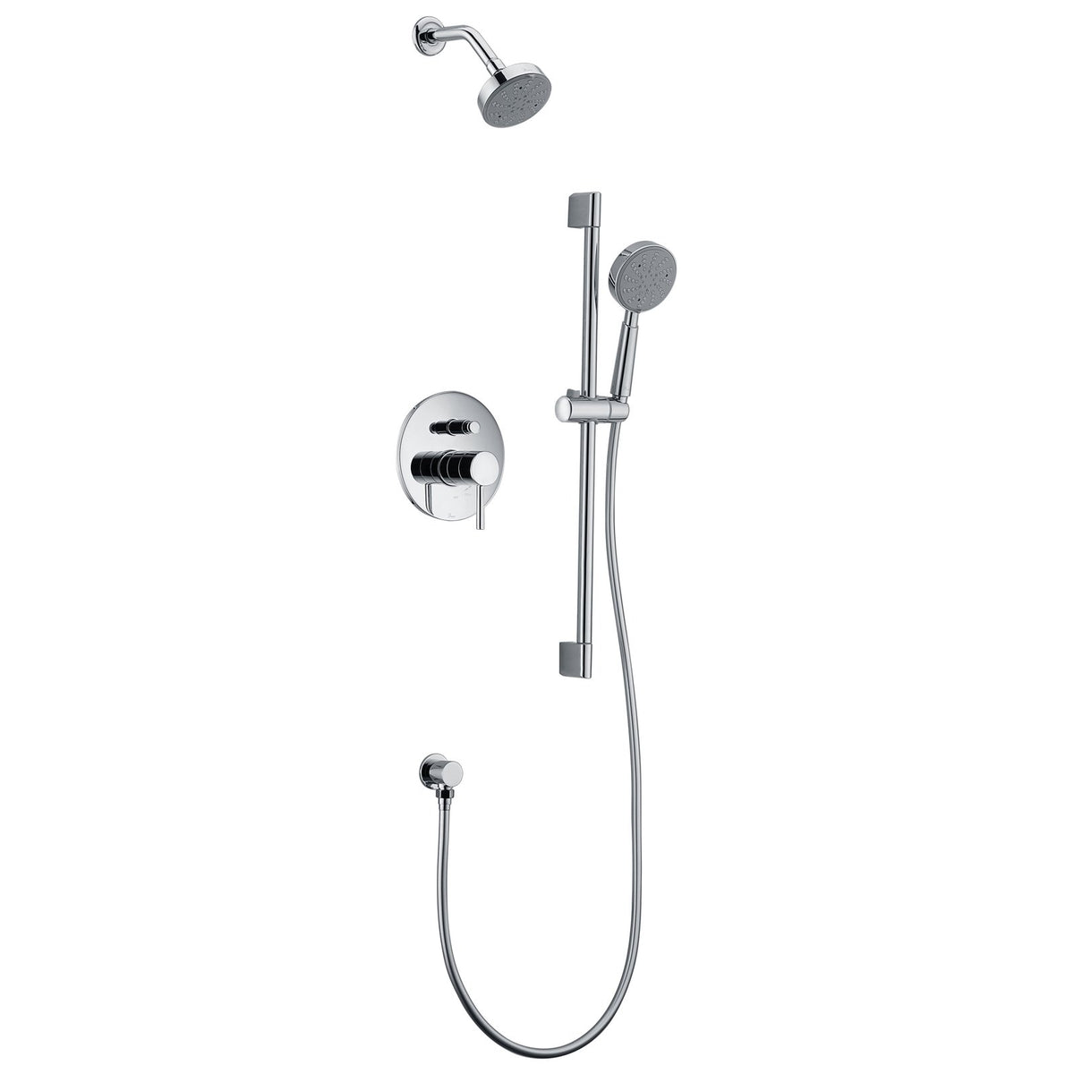 Dawn Grand Canyon Series Shower Combo Set Wall Mounted Showerhead With Slide Bar Handheld Shower