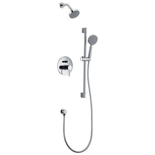 Dawn Grand Canyon Series Shower Combo Set Wall Mounted Showerhead with Slide Bar Handheld Shower-Shower Faucets-DirectSinks
