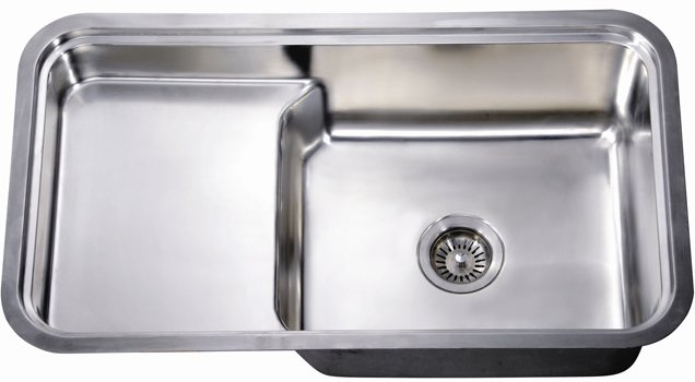 Dsu3018 Dawn Single Bowl With Stepped Basin 18 Gauge Stainless Steel