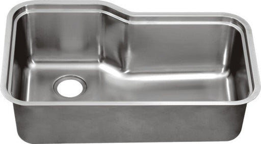 "Dawn DSU3118 33"" 16 Gauge Undermount Single Bowl Stainless Steel Kitchen Sink with Accessory Ledge-Kitchen Sinks-DirectSinks"