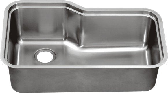 "Dawn DSU3118 33"" 16 Gauge Undermount Single Bowl Stainless Steel Kitchen Sink with Accessory Ledge-Kitchen Sinks Fast Shipping at DirectSinks."