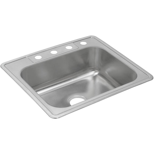 "Elkay 25"" x 22"" x 8-3/16"" Dayton Stainless Steel Single Bowl Drop-in Sink"