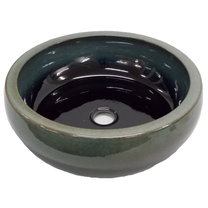 Eden Bath Aquamarine Ceramic Vessel Sink