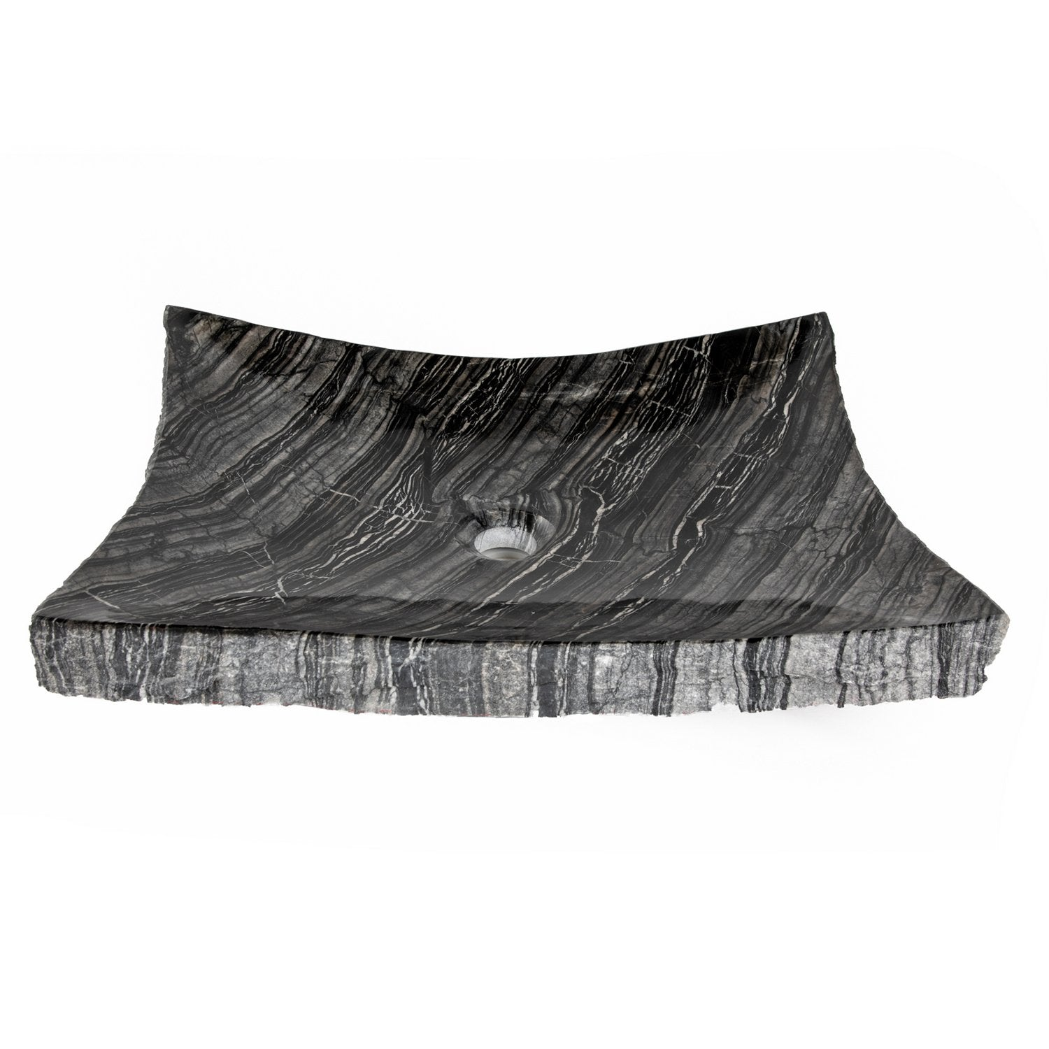 Eden Bath Wooden Black Marble Large Zen Sink