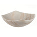 Eden Bath Arched Edges Bowl Sink - Honed White Marble