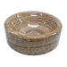 Eden Bath Barrel Vessel Sink - Brown Onyx Polished