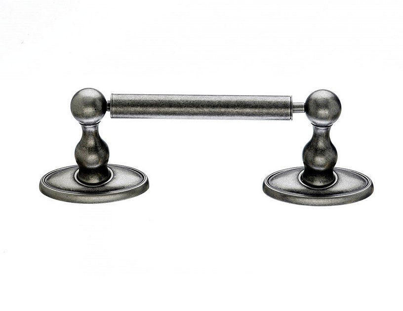 Topknobs ED3APC Tissue Holder With Oval Backplate in Antique Pewter-DirectSinks
