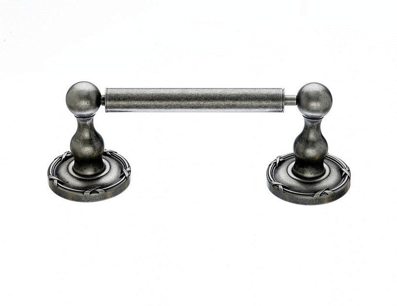 Ed3Ape Tissue Holder With Ribbon & Reed Detail In Antique Pewter-DirectSinks