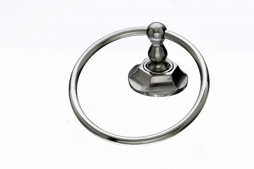 Topknobs ED5BSNB Towel Ring with Hex Detail in Brushed Satin Nickel-DirectSinks