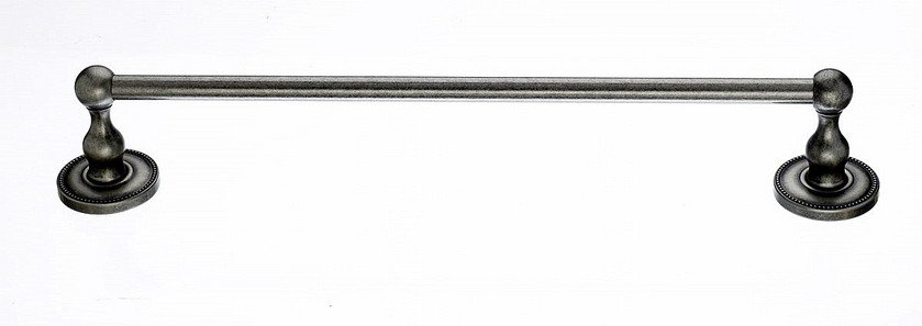 "Ed6Apa 18"" Single Towel Bar With Beaded Detail In Antique Pewter-DirectSinks"