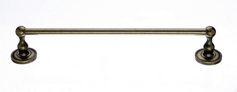 "Ed6Gbza 18"" Single Towel Bar With Beaded Detail In German Bronze-DirectSinks"