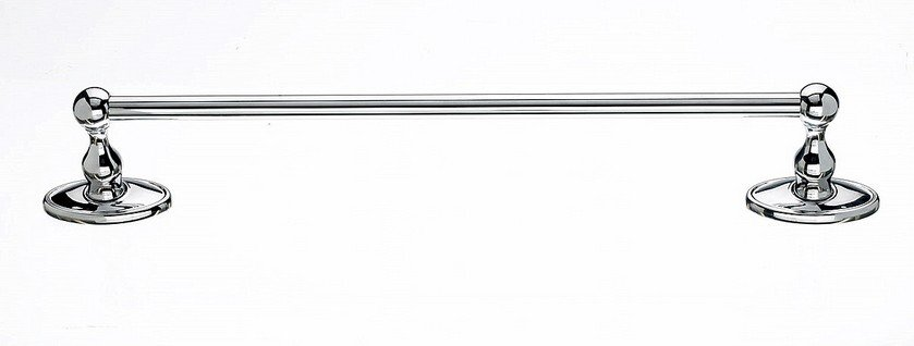 "Ed6Pcc 18"" Single Towel Bar With Oval Backplate In Polished Chrome-DirectSinks"